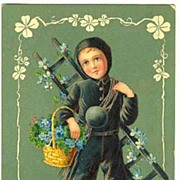 Art Nouveau New Years Postcard from Europe, 1903