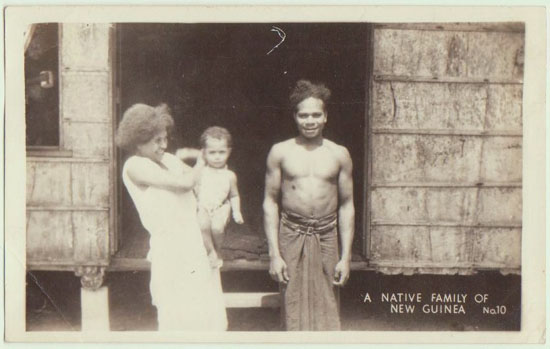 New Guinea vintage Photo. Family Portrait.