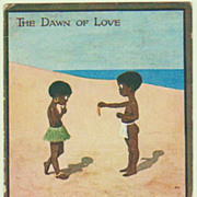 The Dawn of Love. Cute Vintage Postcard.