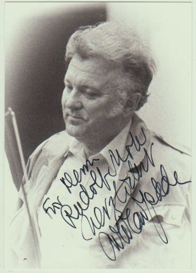 Nicolai Gedda Autograph. Hand-signed Photo. CoA