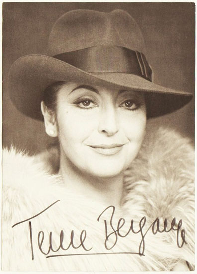 Teresa Berganza Autograph on Photo. 5 x 7. CoA