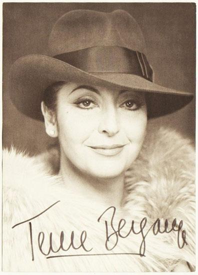 Teresa Berganza Autograph on Photo. 5 x 7. CoA