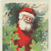 Santa Claus. Decorative vintage Postcard. Litho.