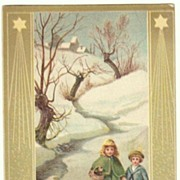 Art Nouveau Xmas Postcard from 1905