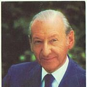 Late Austrian President Kurt Waldheim Autograph. CoA