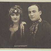 Alexandroff. Vintage Photo of famous Russian Actors.