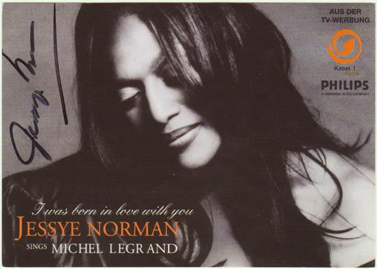 Jessye Norman Autograph, CoA