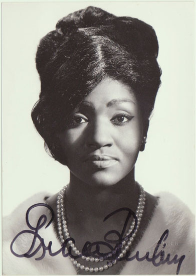 Grace Bumbry Autograph: Early hand signed Photo. CoA