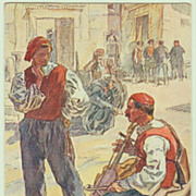 Types from Spalato ( Split ) Croatia. Vintage Postcard from 1911.