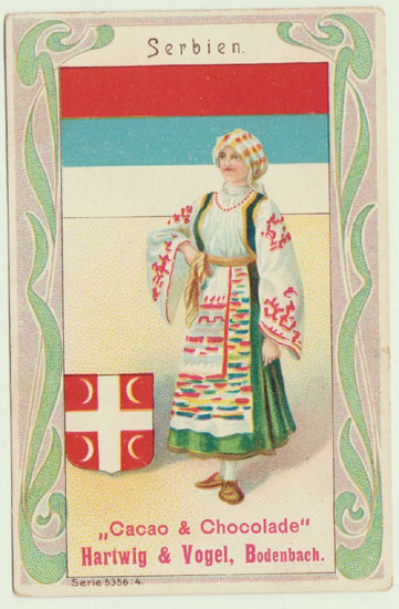Serbia: Art Nouveau Chocolate Ad from ca. 1910