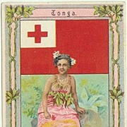 Tonga: Art Nouveau Cacao and Chocolate Ad by Hartwig & Vogel.
