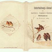 1889: Antique Invitation for a Ball. Small Folder.