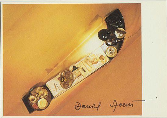 Artist Daniel Spoerri Autograph. Hand-signed Artist Postcard. CoA