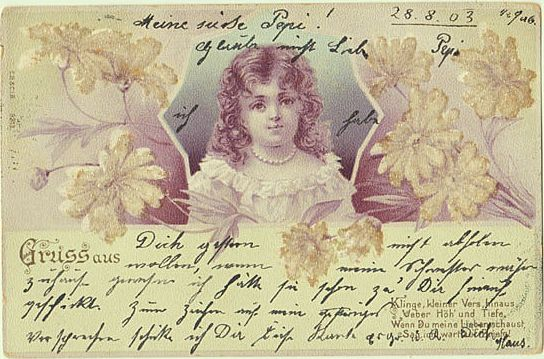 Sweet Darling Postcard from 1903