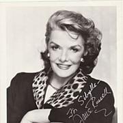 Jane Russell Autograph on large b/w Photo. CoA