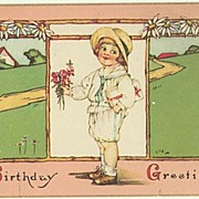 Birthday Greetings: Vintage Postcard from 1926
