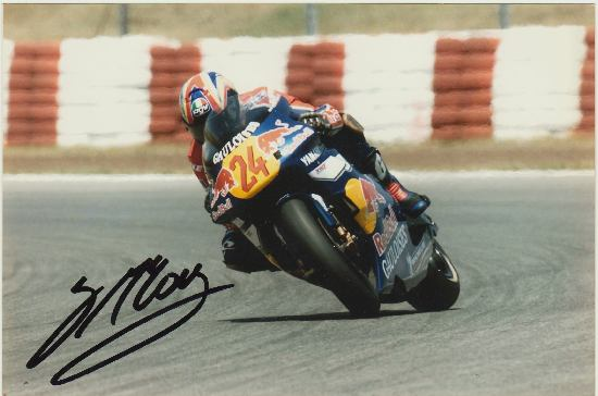 Garry McCoy Autograph. Hand signed Photo by famous Motor-Cyclist. CoA