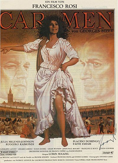 Carmen: Conductor Lorin Maazel signed Poster-style Ad. CoA