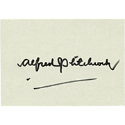 Alfred Hitchcock Autograph. Hand-signed Card, 1979. CoA
