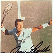 Autograph by Tennis Player Ivan Lendl. CoA