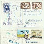 Famous Austrian Mountaineers Autographs. Argentine 1971