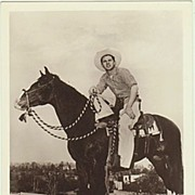 Audie Murphy: Hand signed Photograph. CoA