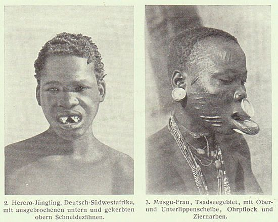 1905 german print related to primitive ethnic groups body for African body decoration
