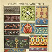 Polychrome Ornaments: 2 Chromolithographs from 1898