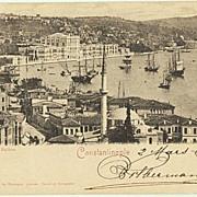 Constantinople: Austrian Post. Vintage Postcard 1900