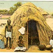 Hut of a Parish Family: Vintage Postcard India. Austria Mission.