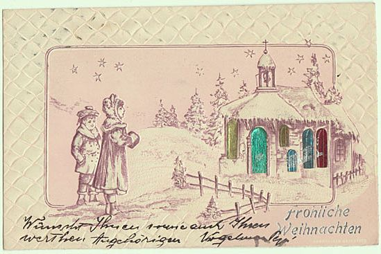 Merry Xmas: Embossed Postcard 1901.