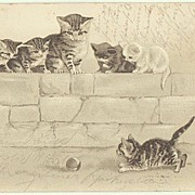 Kittens: Cute Vintage Postcard from 1901