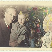 Tinted Xmas Vintage Photo
