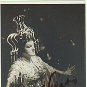 Birgit Nilsson Autograph. Hand-signed Photo. CoA