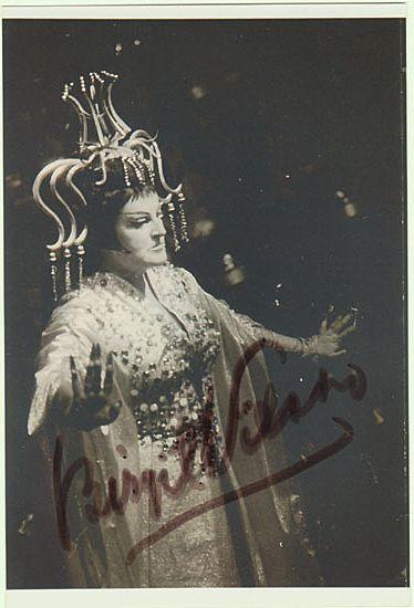 Birgit Nilsson Autograph. Hand-signed Photo. CoA