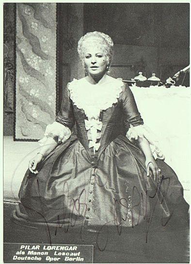 Pilar Lorengar Autograph: Hand signed Photo