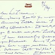 Edward Fox Autographed. Hand Written Message. CoA