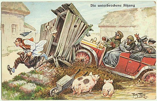Funny vintage Postcard by Thiele. 1913