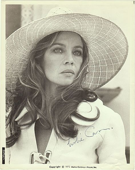 Leslie Caron Autograph from 1970s. CoA