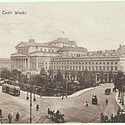Old Poland, Warsaw: Opera Narodowa and Street Scene. 1923