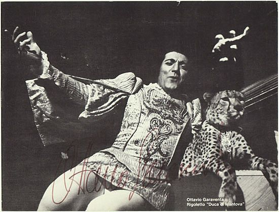 Ottavio Garaventa in Rigoletto. Autograph with CoA