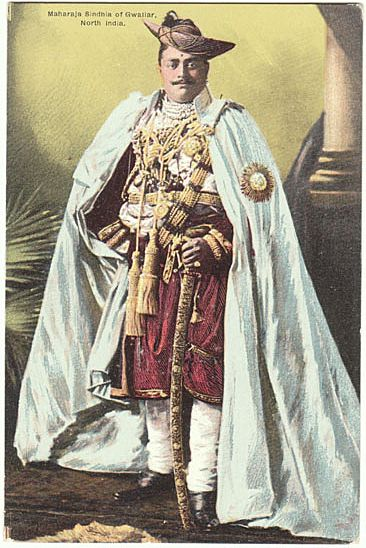 The Maharaja Sindhia Of Gwaliar Vintage Postcard From
