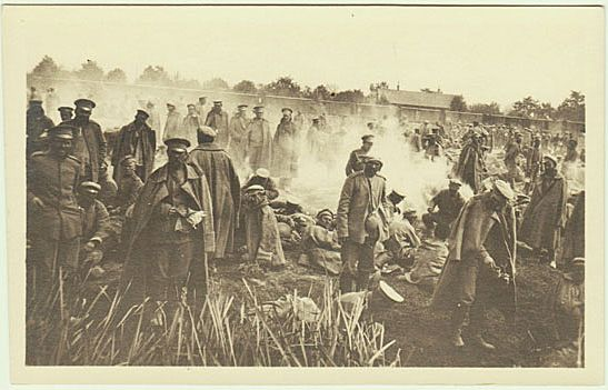 W.W.I.: Captive Russian Soldiers. Photo from 1915.