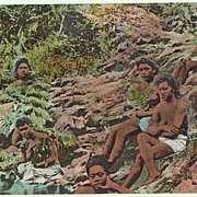 Taking a Bath, Panama. Vintage Postcard, app. 1910