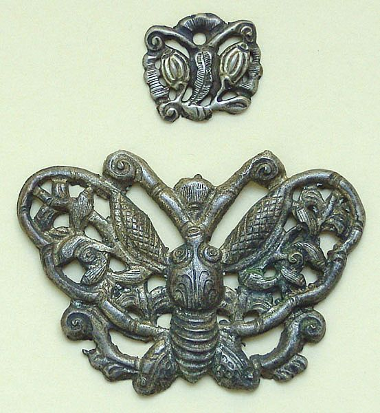 China, Qing Dynasty. Butterflies. Application for a Hat