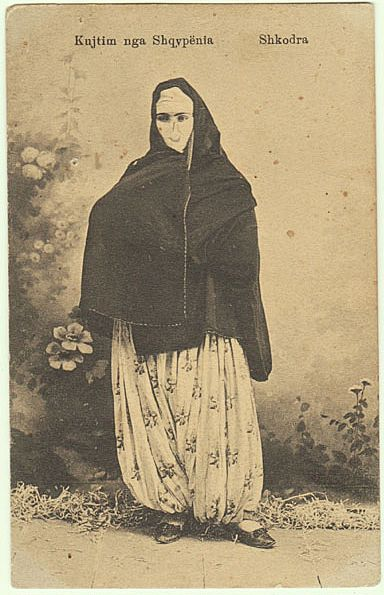 Albania: Moslem Lady in traditional Costume.
