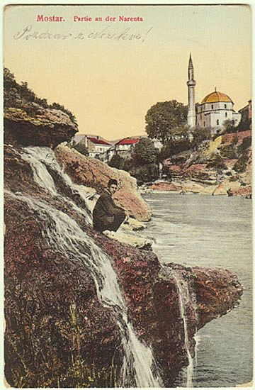 W.W.I.: Mostar vintage Postcard as Military Post