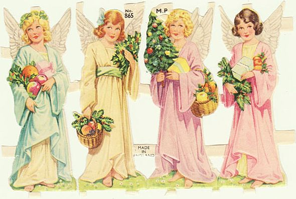 Four Angels: Vintage Die Cuts from England