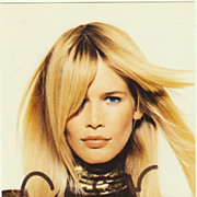 Claudia Schiffer Autograph. Hand-signed Photo. CoA