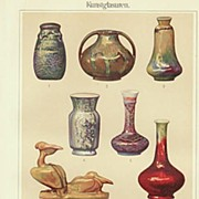 Elaborate Glazing: Decorative chromolithograph from 1900